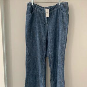 J Jill Linen Blend trouser.